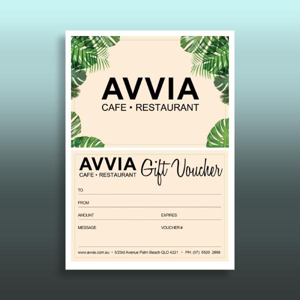 cafe and restaurant gift voucher