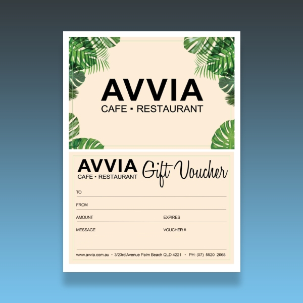 cafe and restaurant voucher