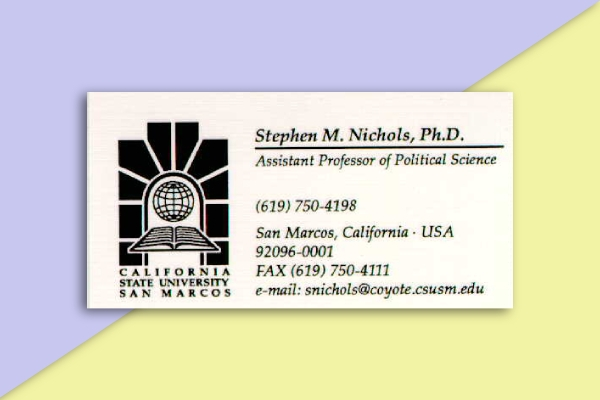 california state university business card
