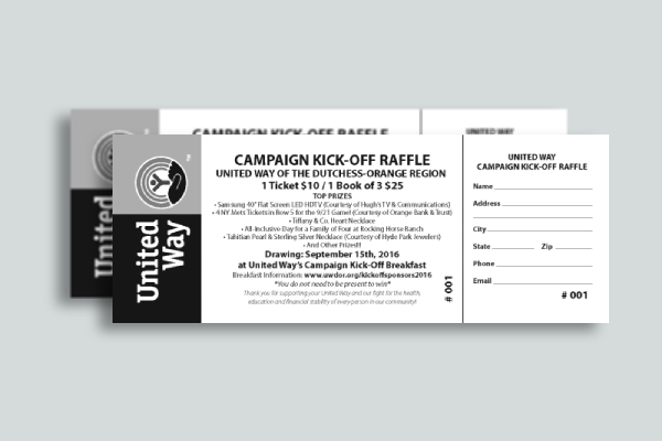 campaign kick off raffle ticket