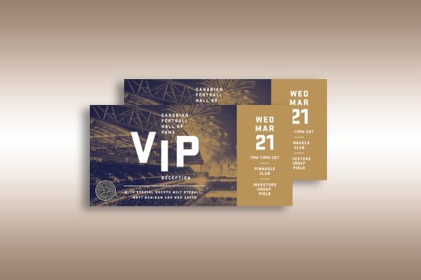 canadian football hall of fame vip reception ticket