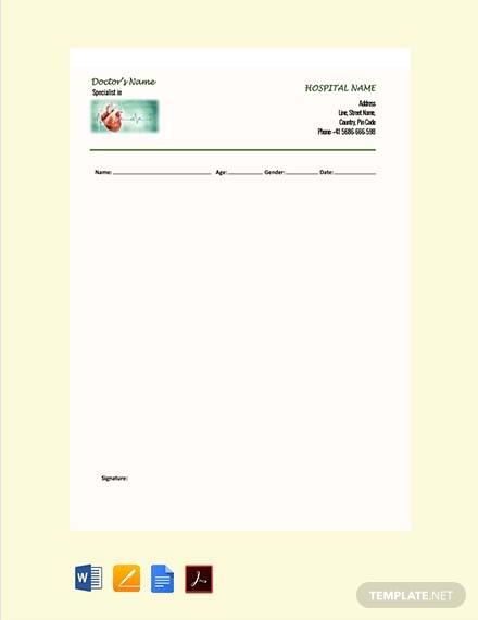 cardiologist doctors prescription note