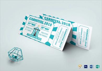 carnival event invitation ticket templates
