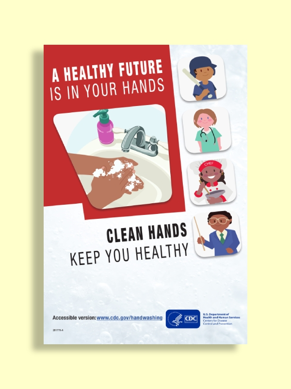 children handwashing reminder poster