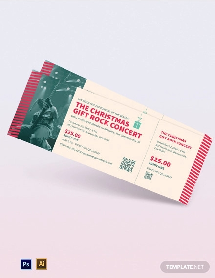 christmas gift concert ticket template