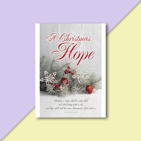 christmas hope greeting card