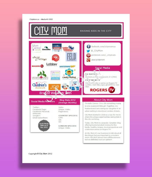 city mom blog media kit