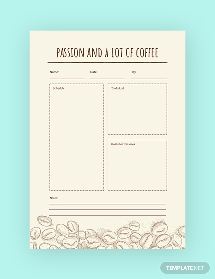 coffee journal notebook m1x 3