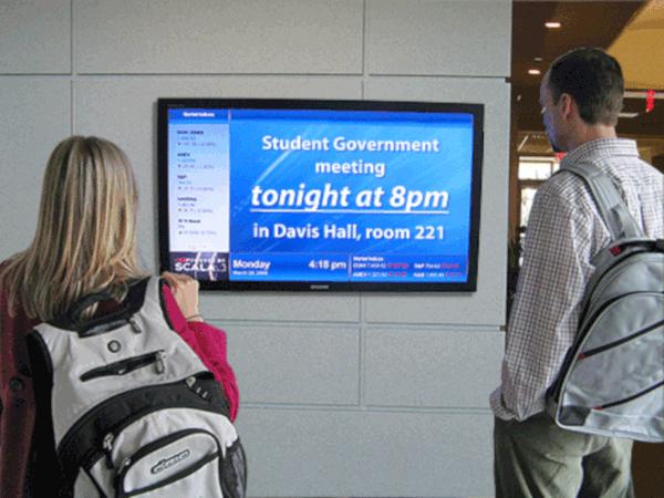 college digital signage