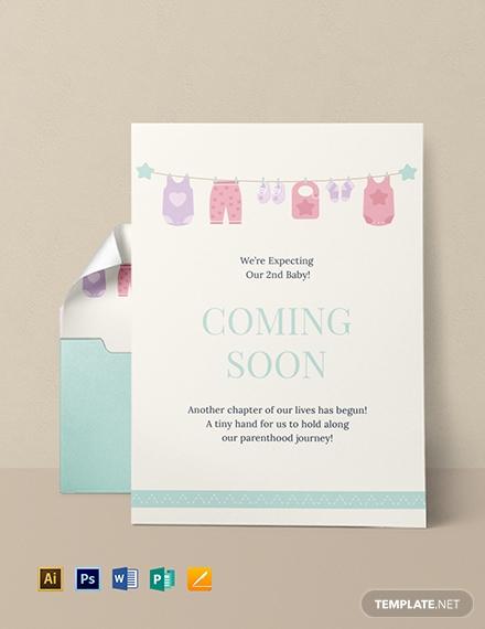 coming soon pregnancy announcement card