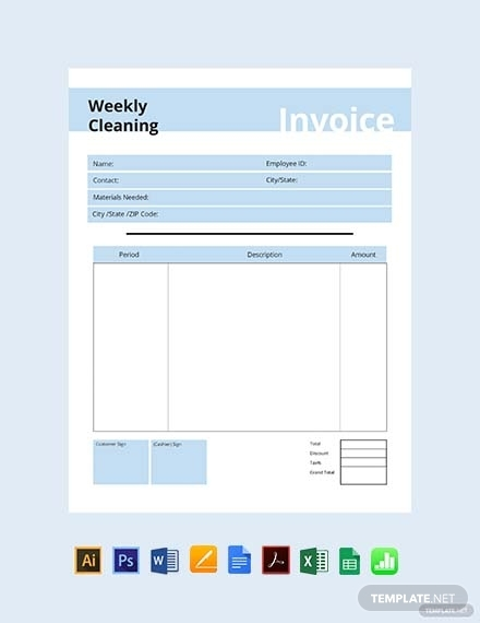 commercial cleaning invoice