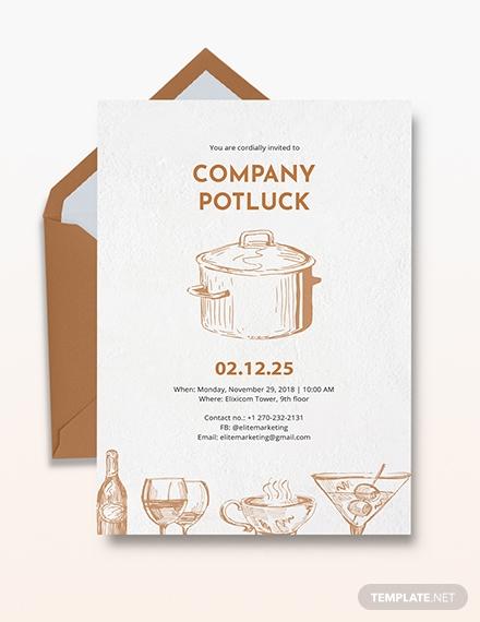 company potluck invitation