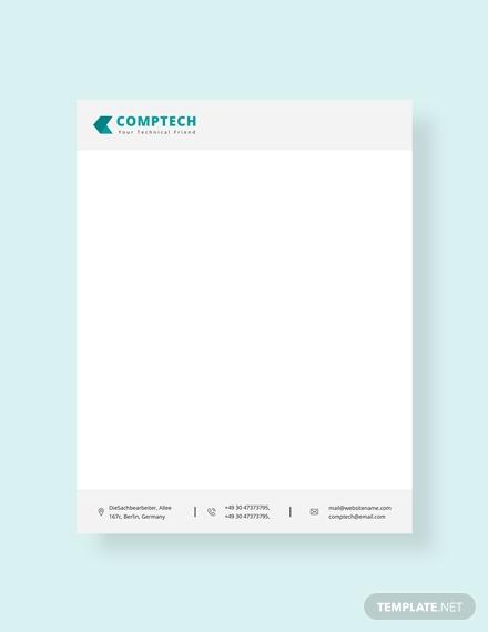 computer service letterhead