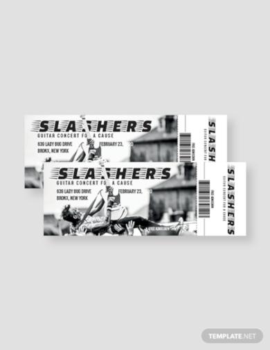 concert admission ticket