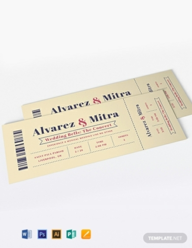 concert ticket wedding invitation1