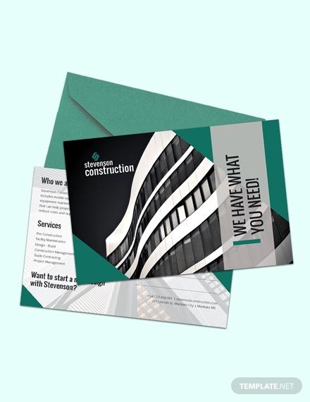 construction business postcard