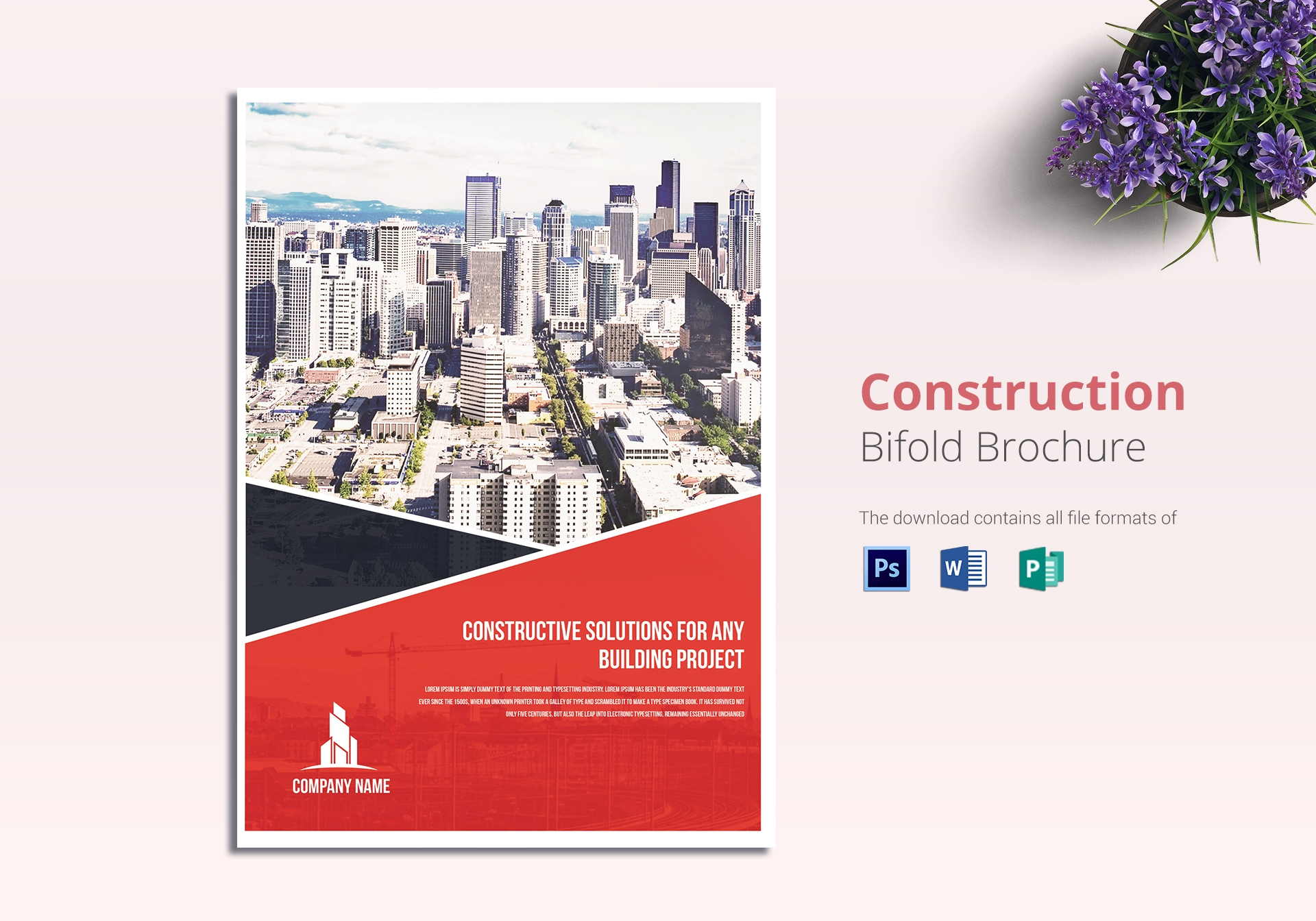 construction real estate brochure template