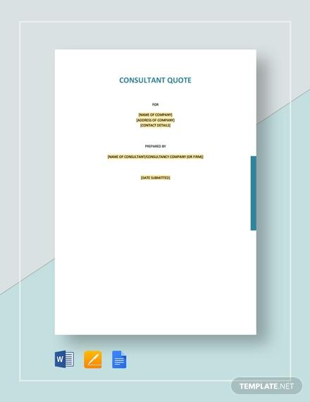 consultant quotation