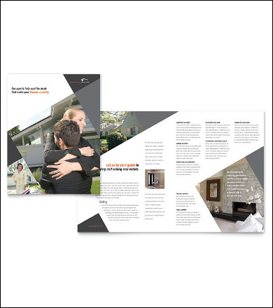 contemporary real estate listing brochure