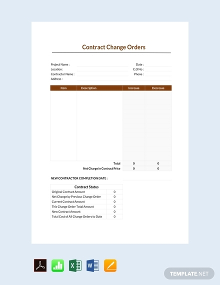 contract change order
