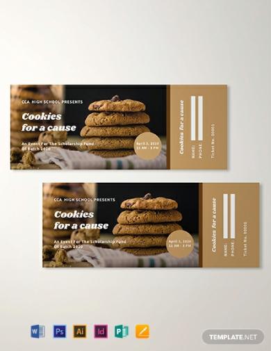 cookies fundraiser ticket