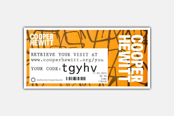 cooper hewitt admission ticket