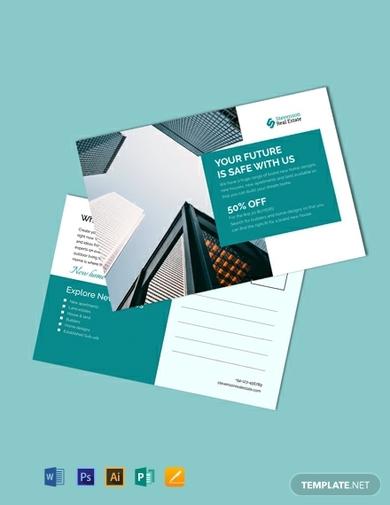 corporate business postcard 1