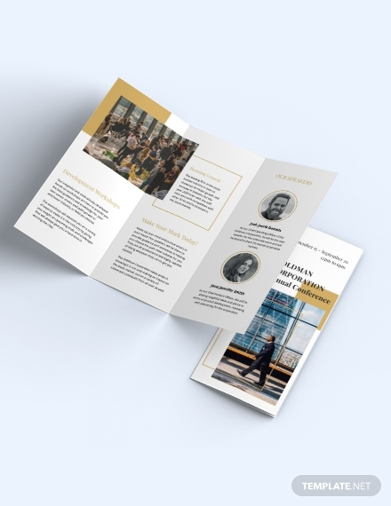 corporate event brochure