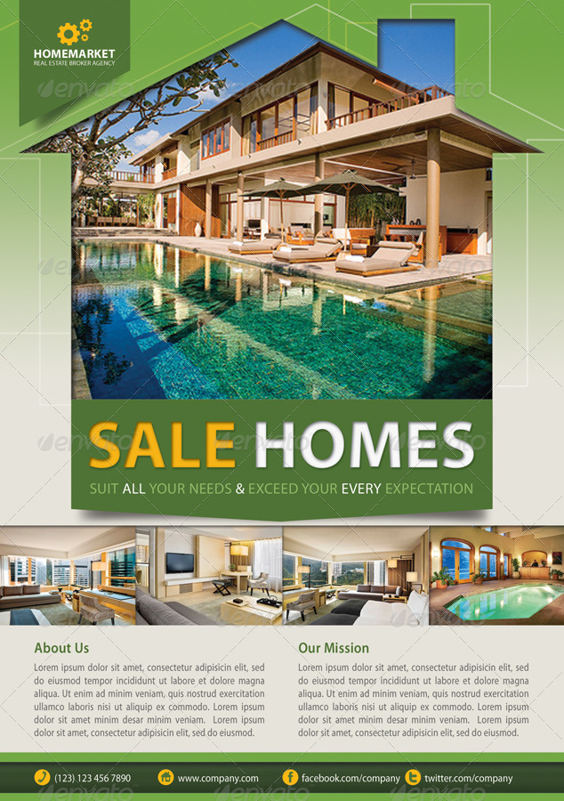 corporate house for sale advertisement template2