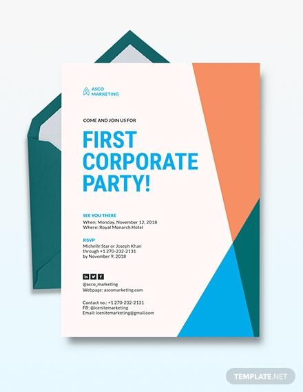 corporate party invitation