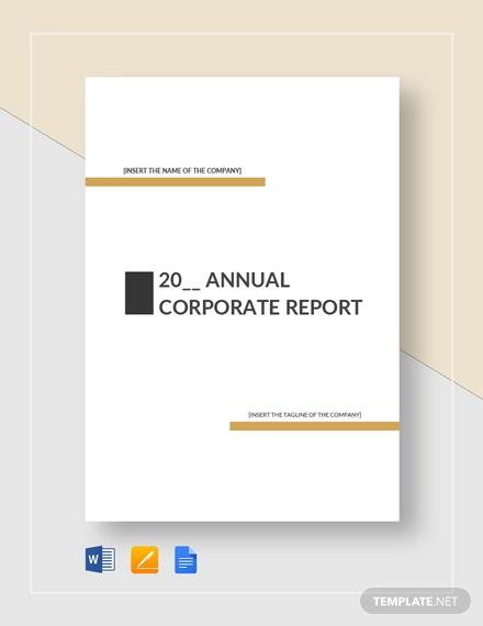 corporate report template