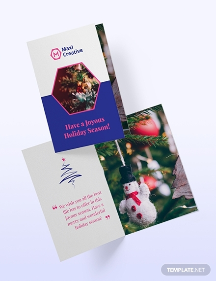 creative agency greeting card template