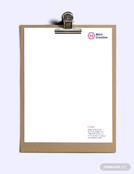 creative agency letterhead