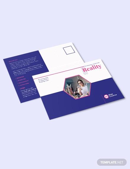 creative agency post card