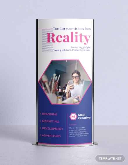 creative agency roll up banner