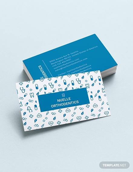 creative dentist business card