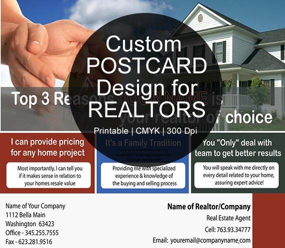 custom real estate postcard