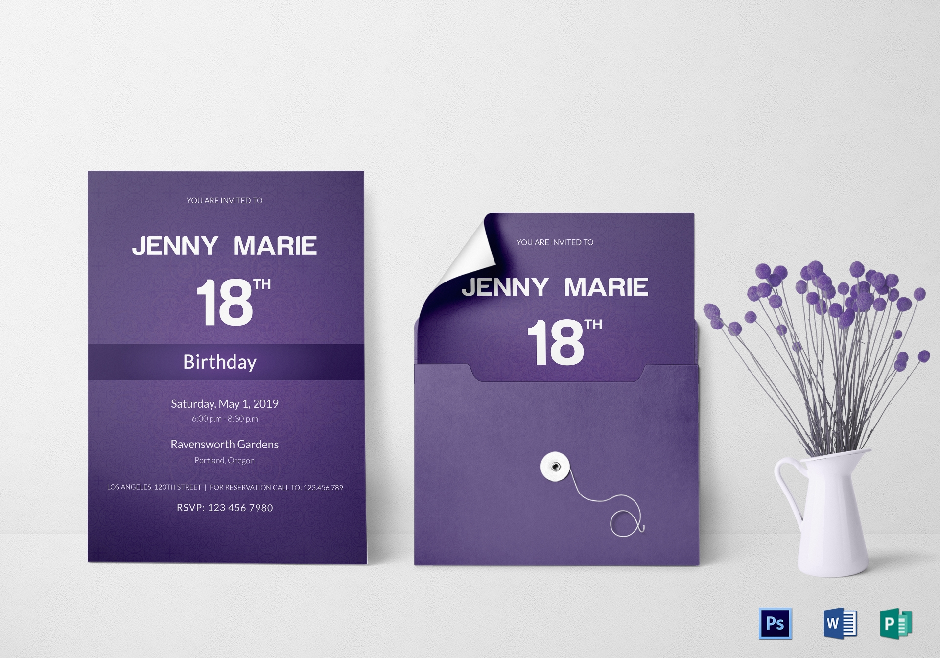 debut event invitation card template