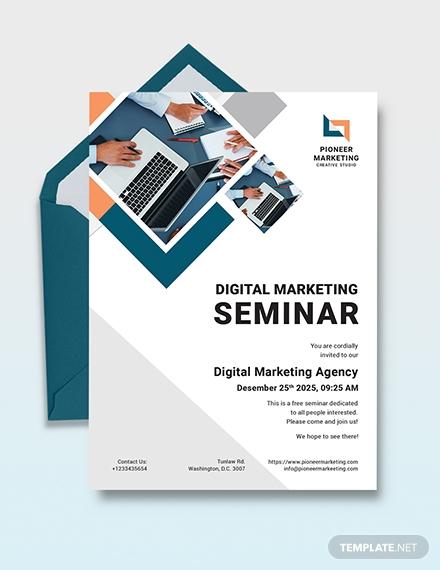 digital marketing seminar invitation