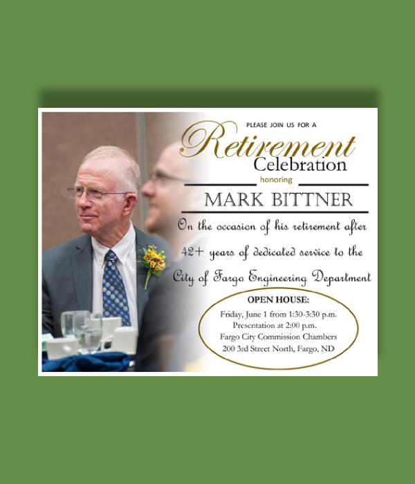 director of engineering retirement celebration invitation