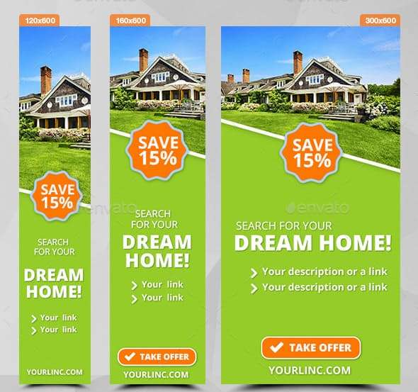 downloadable real estate ads banners
