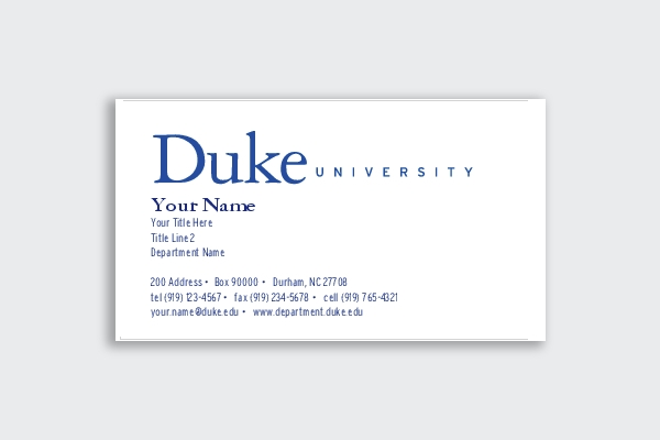 duke university business card1