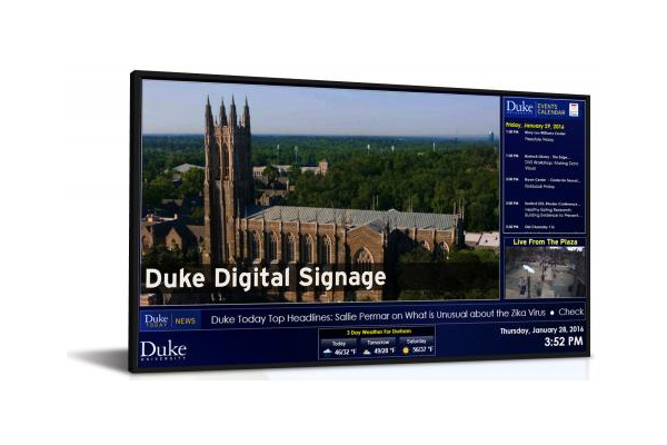 duke university digital signage