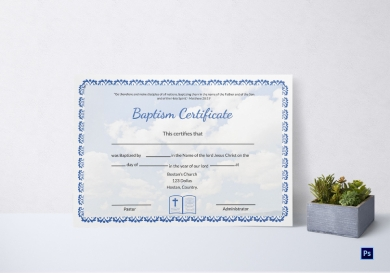 editable baptism certificate