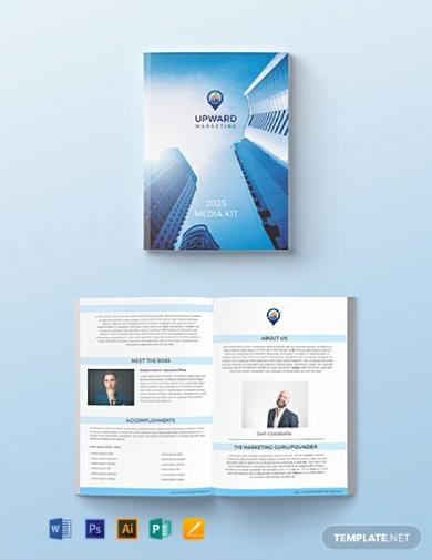 editable marketing media kit