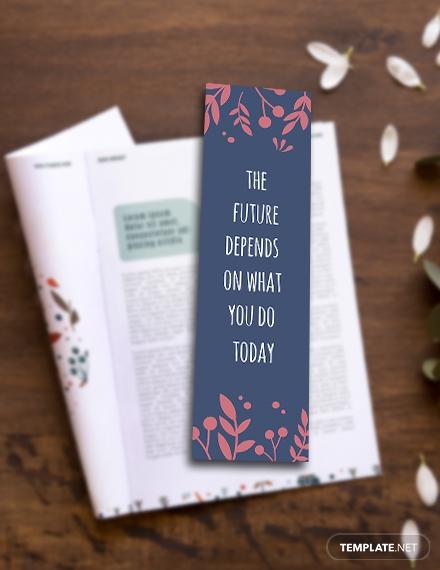 editable motivational bookmark