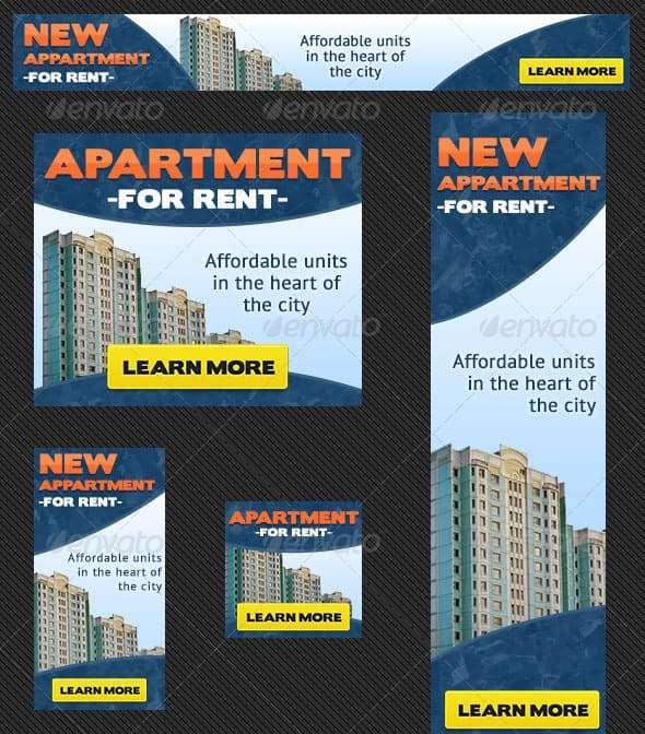 editable real estate apartment banner ad