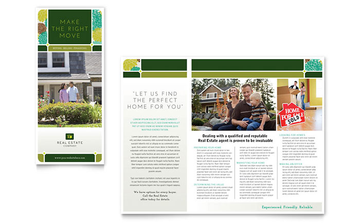 editable real estate brochure template