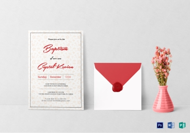 elegant baptism invitation