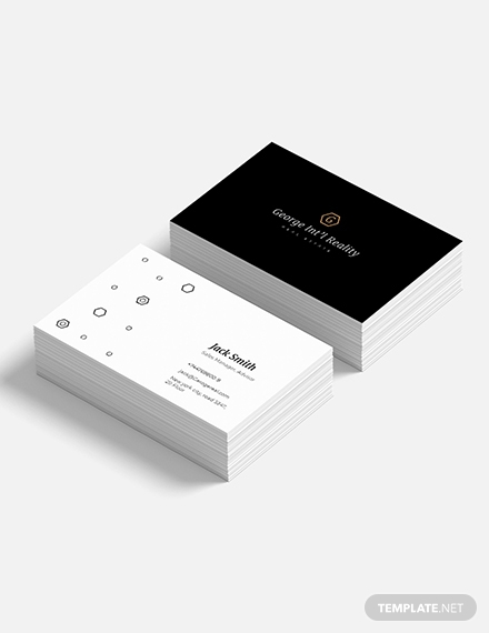 elegant real estate business card